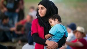 لاجئة عراقية1