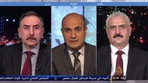 العميد ضياء الوكيل في برنامج  حديث الثورة قناة الجزيرة